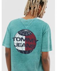 9beb4b5ca Tommy Hilfiger - Summer Heritage Capsule T-shirt In Green With Back Print  Logo -