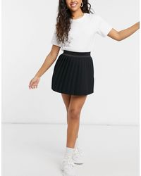 ASOS Jersey Pleated Sporty Mini Skirt - Black