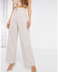 River Island Pantalon large plissé - Gris
