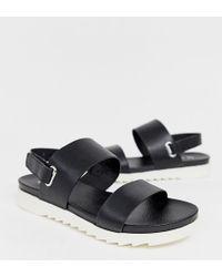 Blink Slingback Flat Sandals - Black