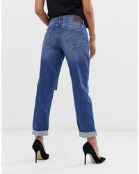 G-Star RAW 3301 Saddle - Boyfriend Jeans Met Normale Taille - Blauw