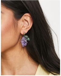 ASOS Boucles d'oreilles avec pendant grappe - Multicolore