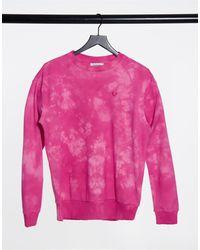 True Religion Sudadera rosa con efecto tie dye