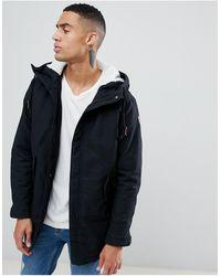 Produkt Parka With Fleece Lined Hood - Black