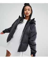 adidas Originals - Short Down Filled Jacket In Black - Lyst