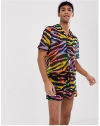 Jaded London Pantalones cortos con estampado - Multicolor