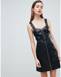 Ivyrevel - Faux Leather Dress With Buckle Detail - Lyst
