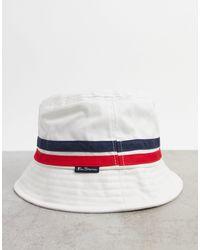 Ben Sherman Bucket Hat - White