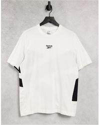 Reebok - Белая Футболка С Логотипом По Центру И Принтом На Спине Classics-белый - Lyst