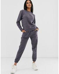 ASOS – Trainingsanzug mit Ultimate-Sweatshirt und Basic-Jogginghose aus Premium-Material - Blau