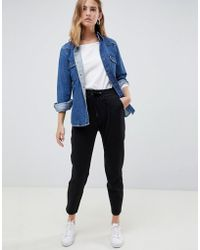 B.Young - Cropped Pants With Waist Tie - Lyst