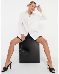 4th & Reckless Oversized Poplin Shirt Dress - White