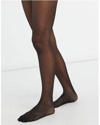 Lindex Черные Блестящие Колготки Плотностью 20 Ден -черный