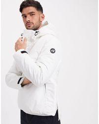Pull&Bear Overhead Padded Jacket - White