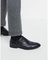 ASOS Chaussures richelieu imitation cuir - Noir