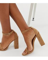 ASOS Highlight Barely There Block Heeled Sandals - Natural