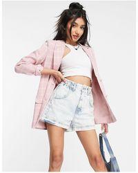 In The Style X Billie Faiers Blazer Dress - Pink