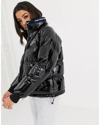 The Couture Club Reversible Signature Padded Jacket - Black