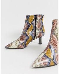 ASOS Rapids Kitten Heel Boots - Multicolour