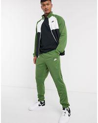 Nike Zip-through Polyknit Tracksuit Set - Green
