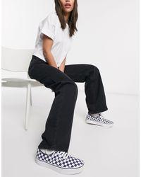Monki Yoko - Jean large en coton biologique - Noir