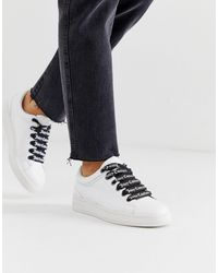 Juicy Couture Leather Lace Up Sneakers - White