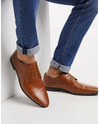 TOPMAN Tan Leather Bright Derby Sh - Brown