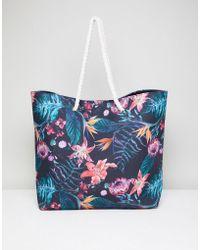 South Beach - Tropical Floral Beach Bag - Lyst