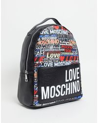 Love Moschino Черный Рюкзак С Принтом Логотипа -черный Цвет