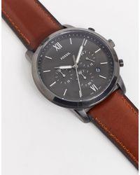Fossil - Коричневые Часы С Кожаным Ремешком Fs5512 Neutra Chrono-коричневый - Lyst
