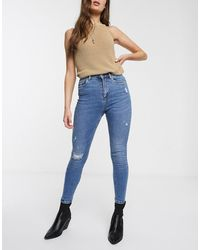 ONLY Distressed Skinny Jeans - Blauw