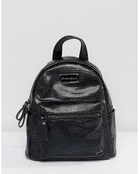 Claudia Canova - Lizard Effect Print Mini Backpack - Lyst