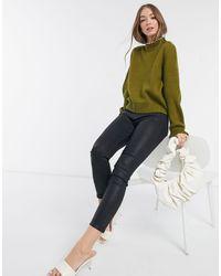 Vero Moda Джемпер Хаки С Искусственным Жемчугом -зеленый