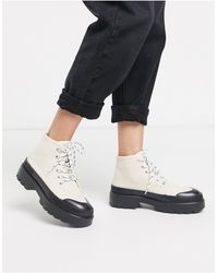 Pull&Bear Rubber Sole Boots - Natural