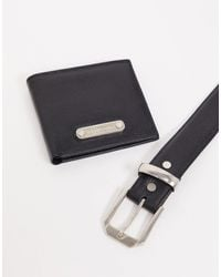 Bolongaro Trevor Подарочный Набор: Ремень И Бумажник Из Натуральной Кожи Miller-черный