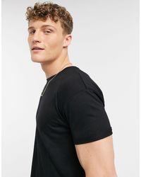 TOPMAN Longline T-shirts - Black