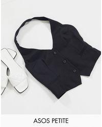 ASOS Asos Design Petite Mix & Match Suit Waistcoat - Black
