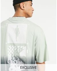 Collusion Oversized T-shirt With Print - Blue