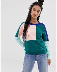 adidas Originals Sweater Tape Half Zip PeriwinkleWhite