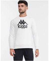 Kappa Sweat-shirt à grand logo - Blanc