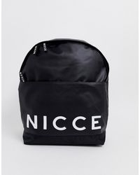Nicce London Backpack With Large Logo - Black