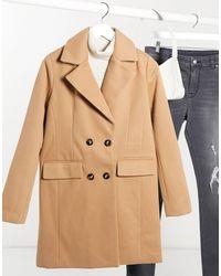 Fashion Union Двубортное Пальто-бушлат -бежевый - Естественный