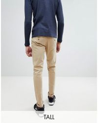 Blend | Tall Slim Fit Chino In Beige | Lyst