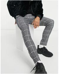 ASOS Smart Super Skinny Trousers - Black