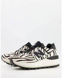New Balance Кроссовки На Танкетке С Принтом «зебра» 574-белый