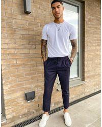 New Look Joggers habillé à rayures fines - Bleu marine