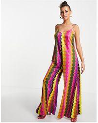 Never Fully Dressed Wide Leg Jumpsuit - Multicolour