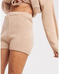 ASOS Co-ord Knitted Shorts - Pink
