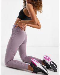Nike - Леггинсы Длиной 7/8 Лилового Цвета С Кружевной Отделкой One Tight-фиолетовый Цвет - Lyst