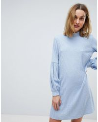 Pieces - Striped Woven Shift Dress - Lyst